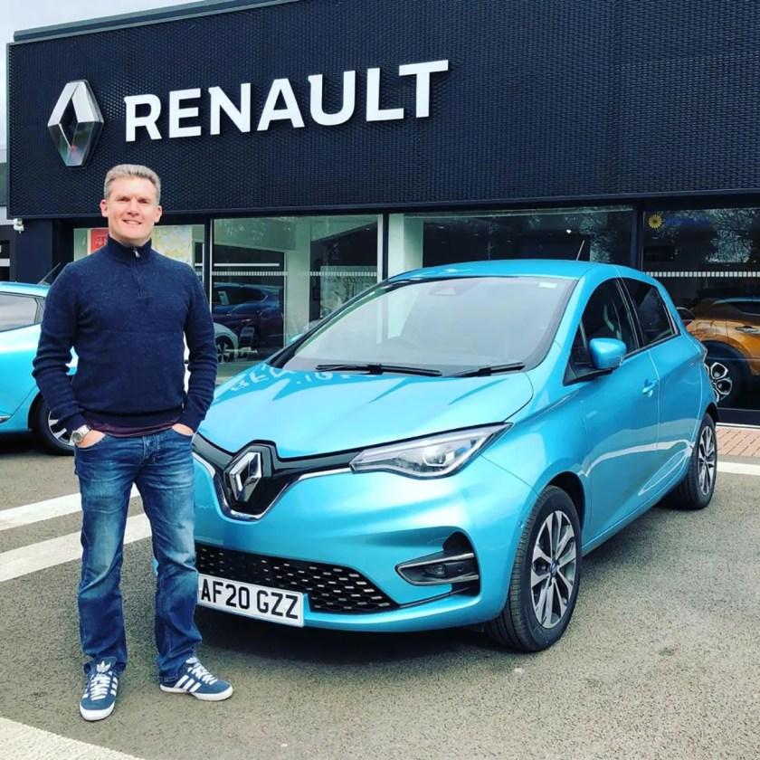 Simon Acton, Chair of the IEVOA, and the Renault ZOE