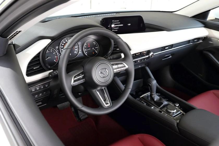 The interior of the Mazda3 100th Anniversary
