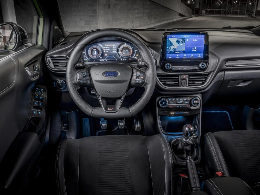 Inside the cabin of the Ford Puma ST