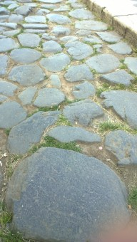 Original Roman roads near the Colosseum