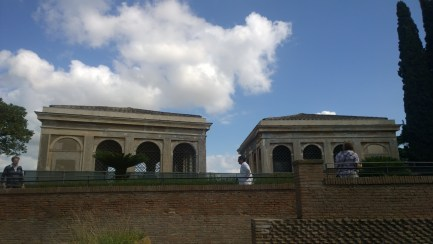 HUGE palace bird cages at Palatine Hill