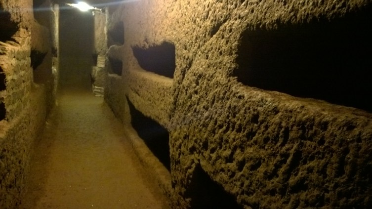 Inside the catacombs- the empty crypts