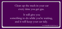 A simple tip to keep your car clean
