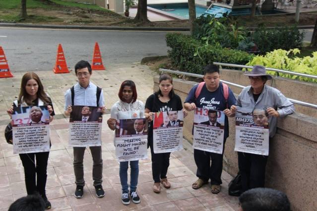 Silent gathering outside Prime Minister's Office, Putrajaya.