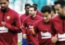 Lionel Messi volvió a los entrenamientos con sus compañeros en el Barcelona