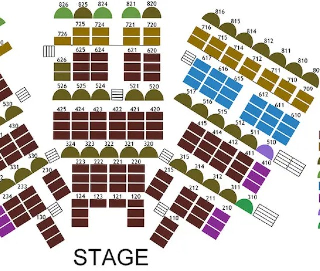 Seating Charts Chanhassen Dinner Theatres