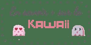 bouton de navigation pour en savoir plus sur la romance geek kawai. on a les petits fantomes pixelisés: la fille avec les yeux en couer et le garon mignon avec les yeux qui brillent