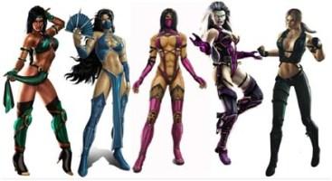 une tripotée d'héroines de jeux vidéos en armures qui ne protègent que dalle!Forcément, on peut pas montrer ses nibards et protéger ses points vitaux. Que c'est con une femme.