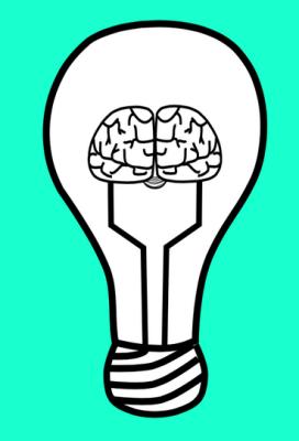 un cerveau sert de filament à une lampe à incandescence. Non, c'est pas creepy, c'est fait joliement.