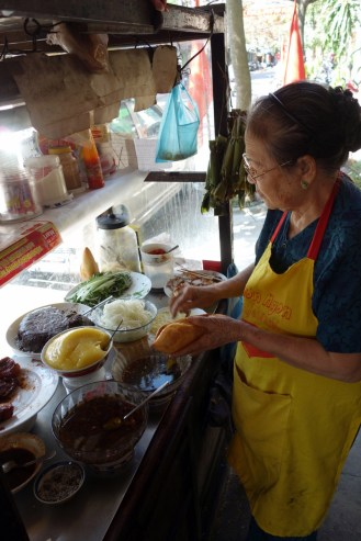 Second favourite banh mi lady. Luckily open all week during Tet