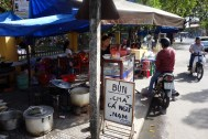 Street food stalls in Hoi An.