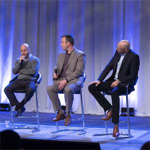 The partner panel of Sam Barhoumeh (left), Craig Slack (middle), and Herb Hogue (right)