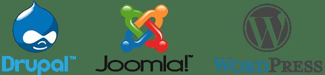 Image: Drupal Joomla WordPress