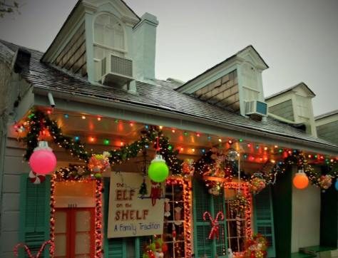 New Orleans French Quarter's Christmas Style