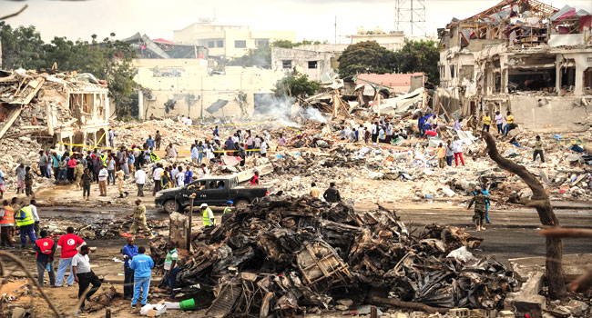 Somalias bombing - Roadside bomb kills 6 Somali soldiers