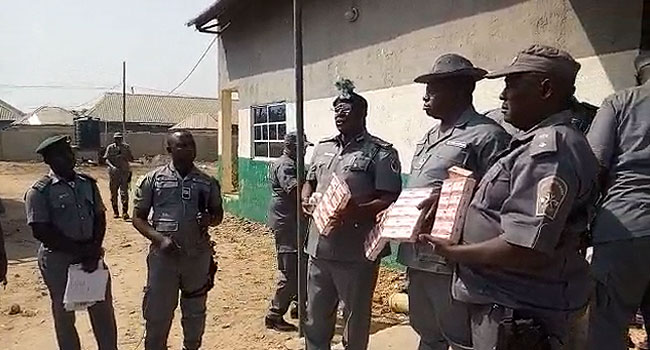 The Customs 1 - Customs arrest 15 suspects in Adamawa for re-bagging foreign rice