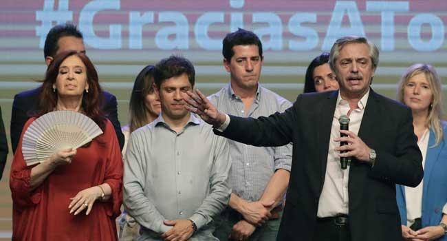 Alberto Fernandez - Argentine President-elect Fernandez holds call with Trump