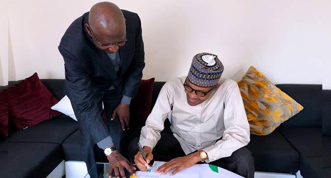 Buhari signs bill - Buhari signs Offshore Act for increased revenue