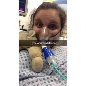 The ultimate hospital selfie: in Resus attached to a nebuliser... #hot
