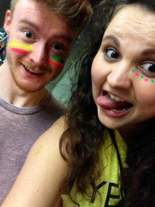 Moi y Zak - Student Union Neon Party!