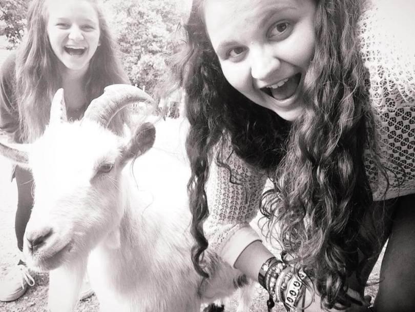 Goat Selfie - I Love My Sister