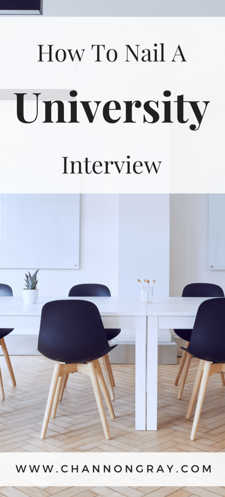 Are you wondering how to land your dream university or college place? Here's my advice on how to absolutely nail your university interview process - www.channongray.com // heythereChannon #University #College #StudentTips