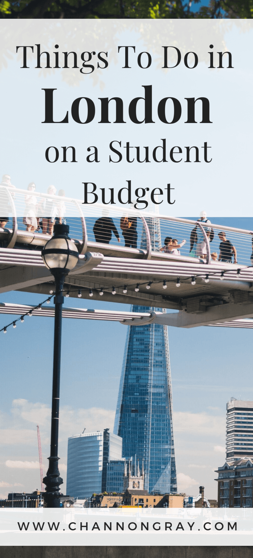 There are few cities as exciting and glamorous in the world as London so it is easy to see why so many students come to study at the many great universities found here. Being a student in the capital is an amazing experience, but you may also find that it is not particularly student budget-friendly as it can be an expensive place to live. With this in mind, here are a few things that you can do in London on a student budget. - www.channongray.com // heythereChannon #uni #university #studentliving