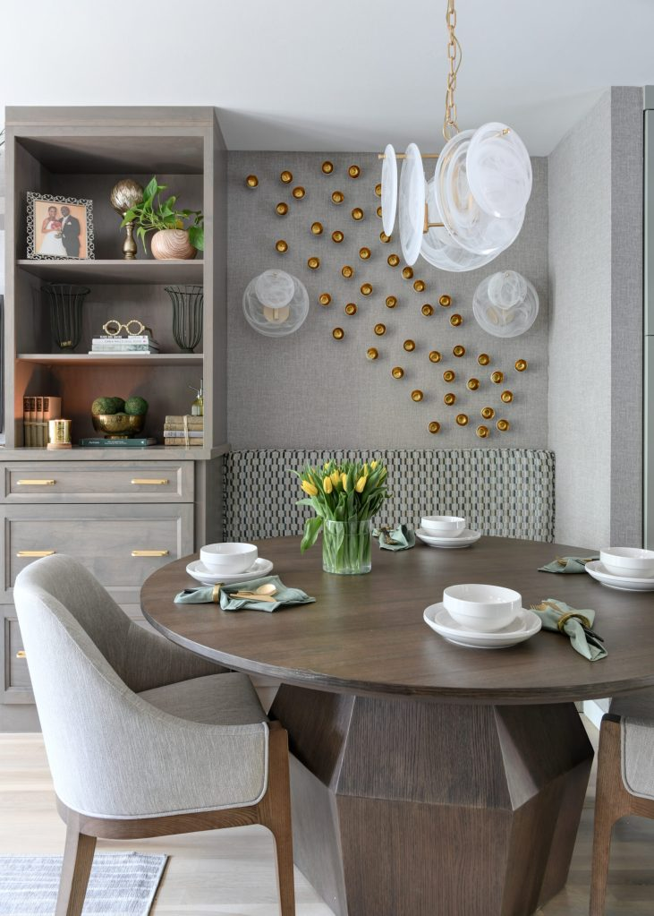 3D Art on Dining Room Wall Southwest DC Waterfront Condo