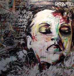 Billie, 2005 6'x6' mixed media on canvas