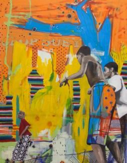 "chop suey, 2015 36"" x 48"" mixed media on canvas"
