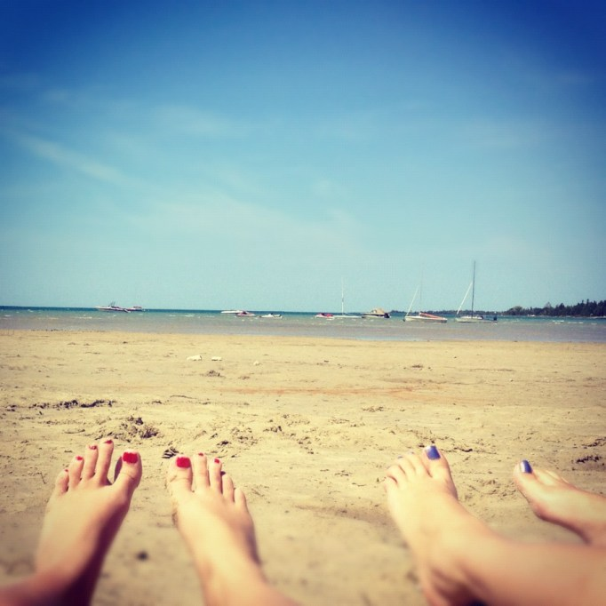 cottage country, ontario map, cheap vacations, travel blog, sauble beach, bestfriend, fried pickles, pountine, delicious, cottage, bikini,