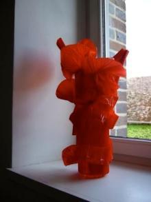 Chantal Morillon_statue rouge 2008_version web