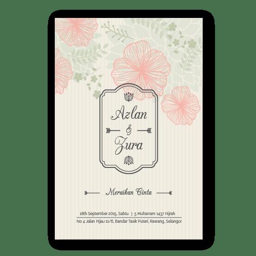 kad kahwin Floral 3