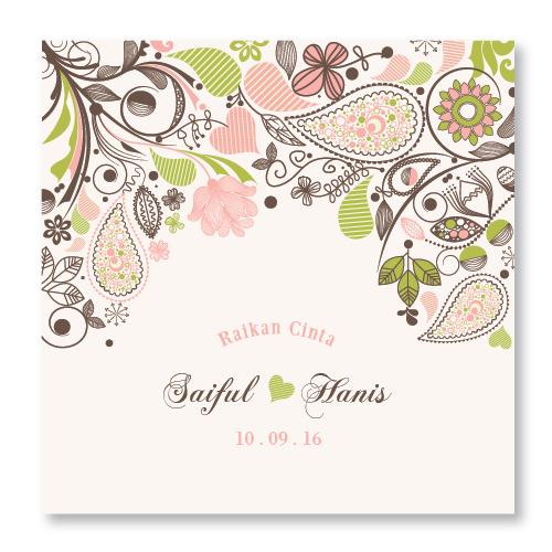 Kad kahwin Floral 33