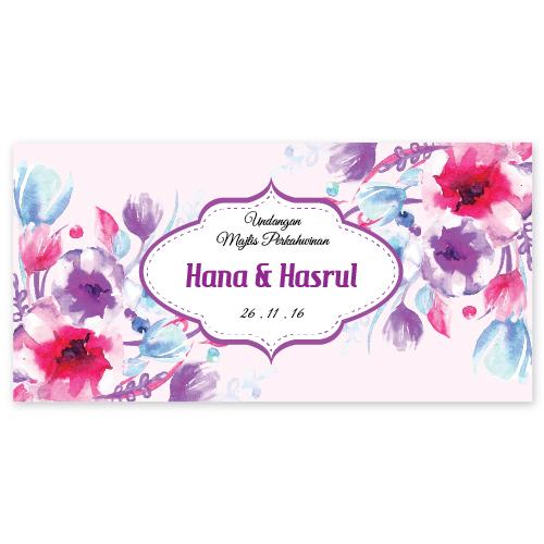 Kad Kahwin Floral 37