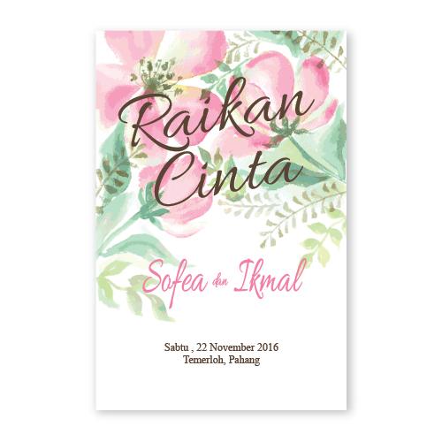 Kad Kahwin Floral 38