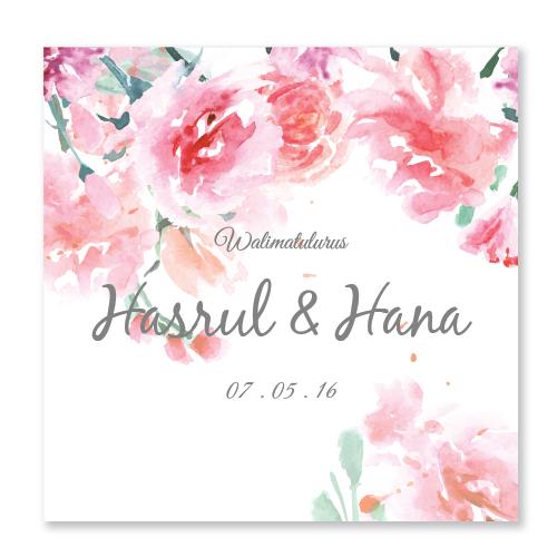Kad Kahwin Floral 40