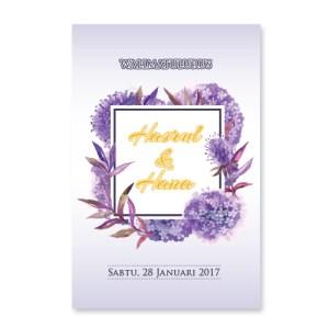 kad kahwin floral 54