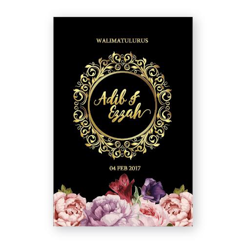 kad kahwin floral 56