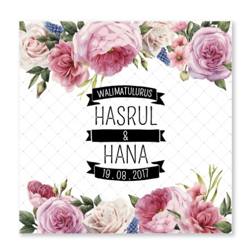 Kad kahwin Floral 58
