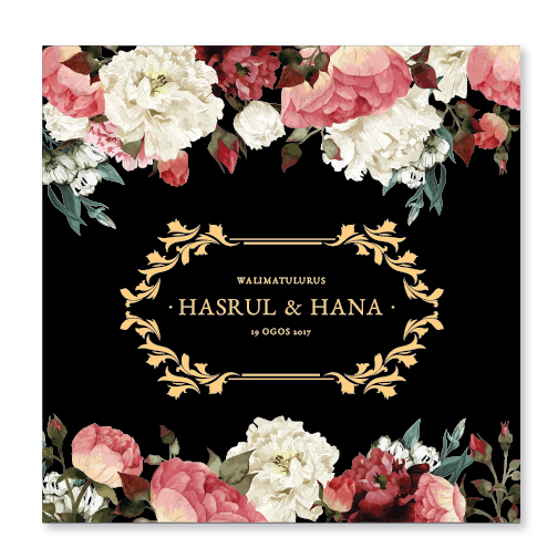 Kad kahwin Floral 59
