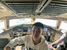 香港飛日本駕駛艙