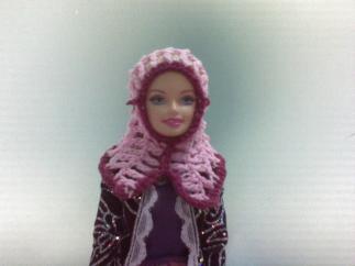Kerudung buat Boneka Barbie adekku
