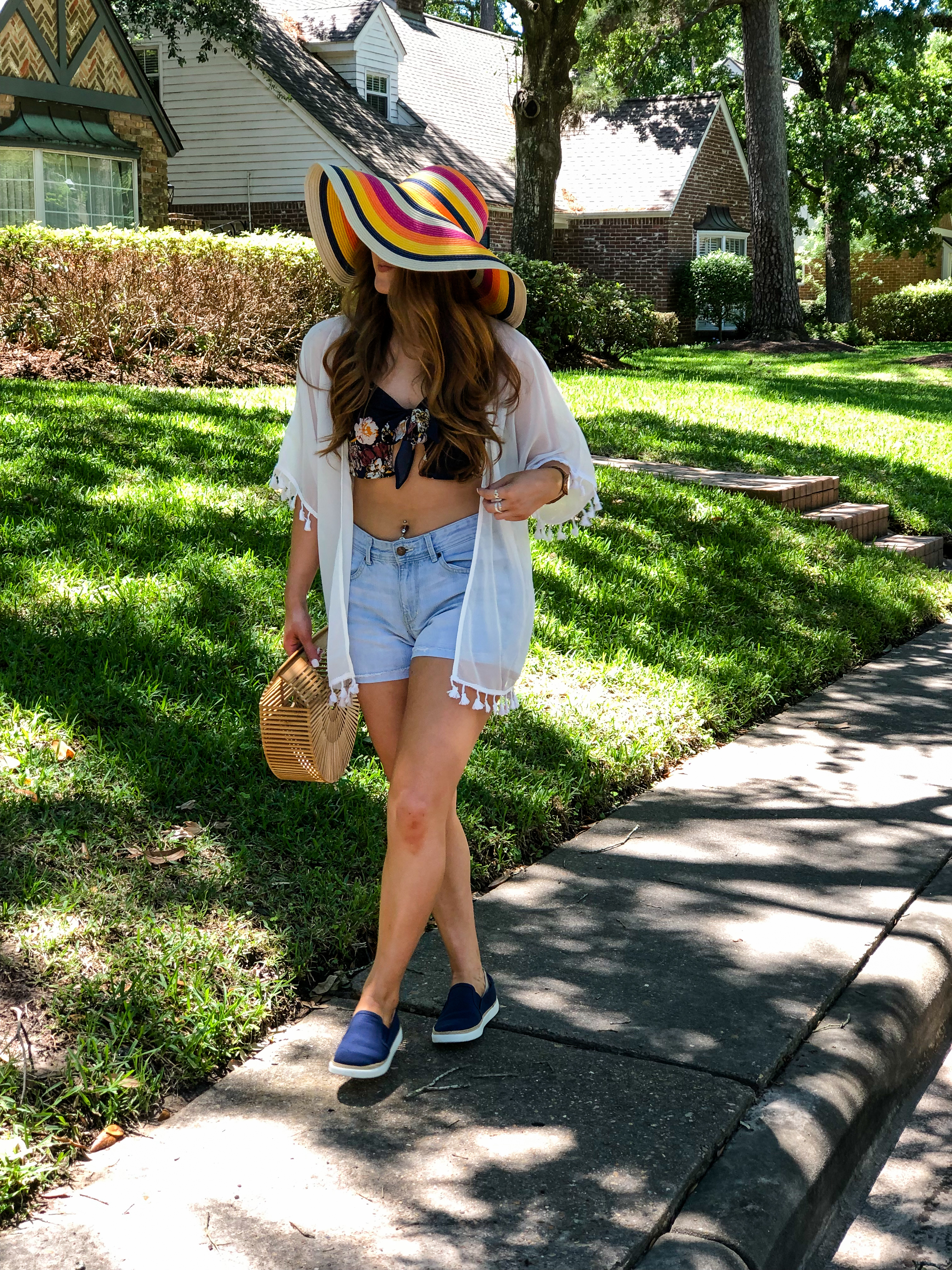 Fun in a Colorful Floppy Sunhat   Chaos and Coffee