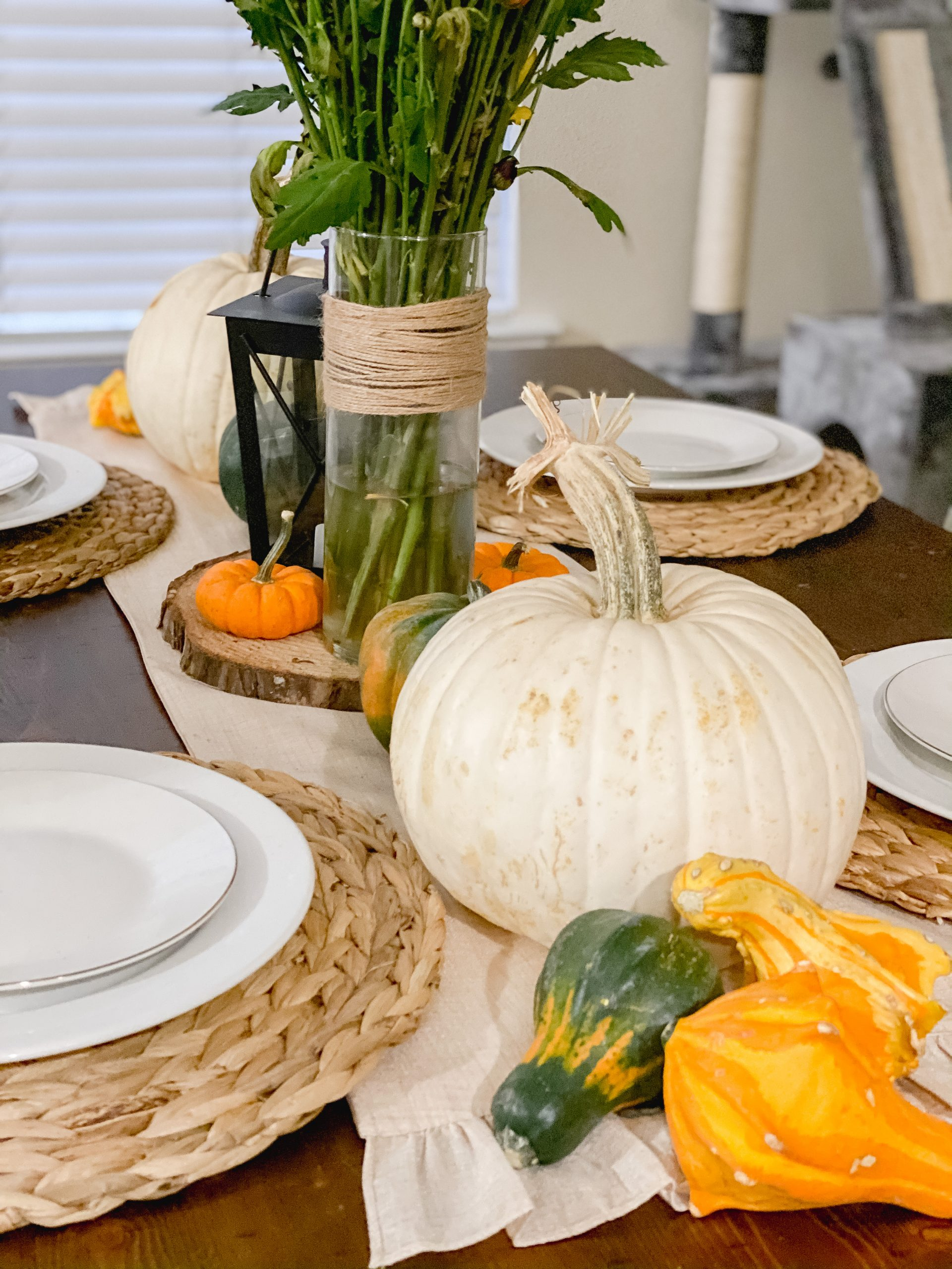 Easy and Affordable Fall Table Decor | Chaos and Coffee