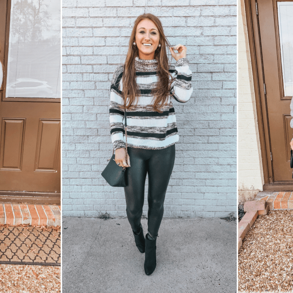 3 Thanksgiving Outfit Ideas with Leggings
