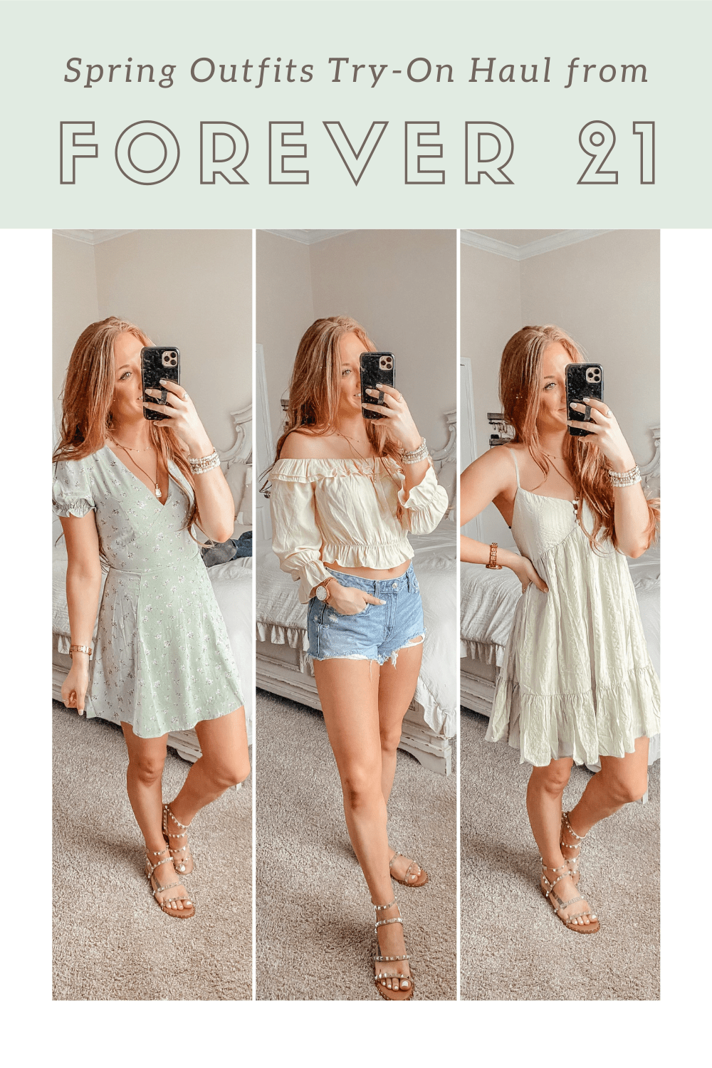 Spring Outfits Try-On Haul from Forever 21 Pinterest Graphic