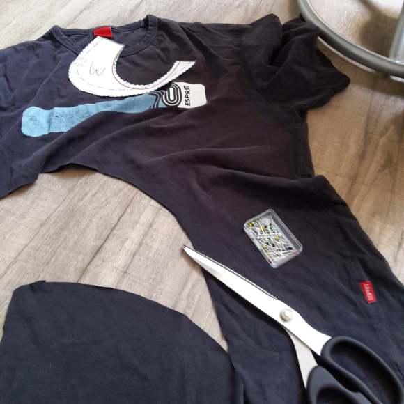 Shirt zerschnitten