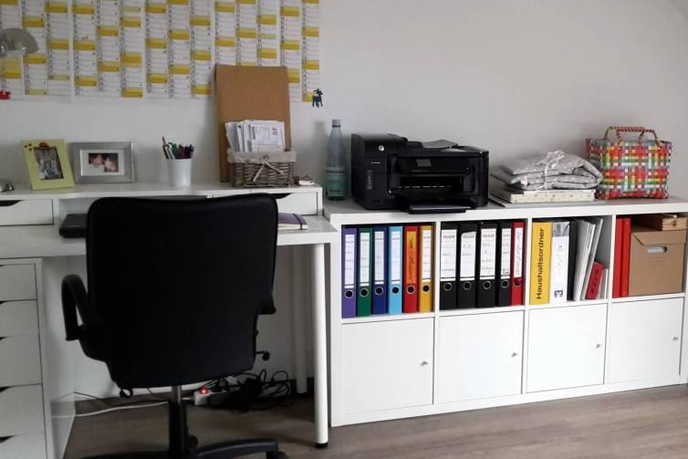 IKEA Büro mit Kallax und Alex