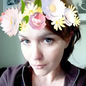 Snapchat Selfie Frühlingsblumenfilter